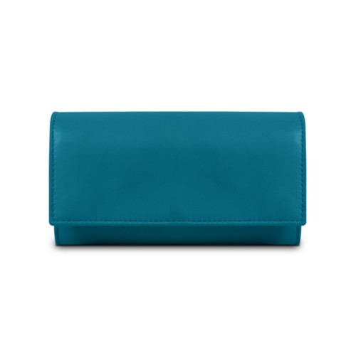 Women's wallet - Turquoise - Smooth Leather