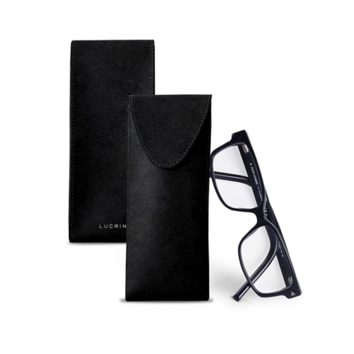 Case for glasses - Black - Vegetable Tanned Leather