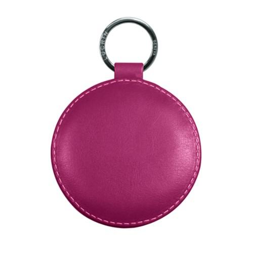 Portachiavi rotondo di 9 cm con anello color - Argento