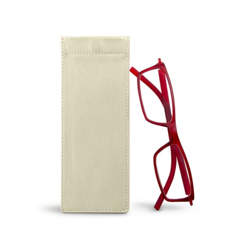 Thin eyeglasses case - Off-White - Smooth Leather