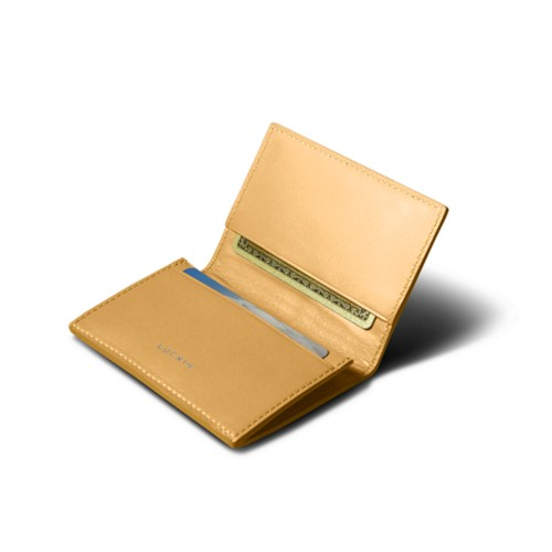 Simple Credit Card Case - Yellow - Smooth Leather