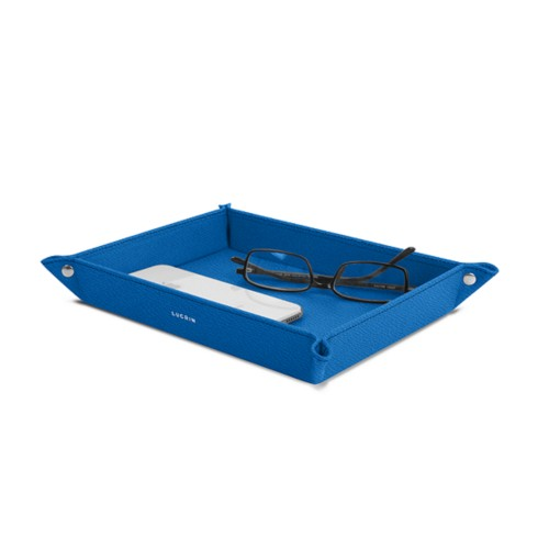 Large rectangular tidy tray (10.2 x 7.5 x 1 inches) - Royal Blue - Goat Leather