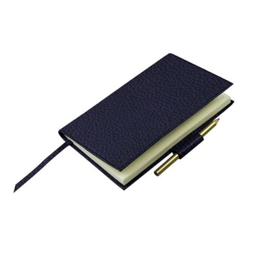 Golfscore-Notizbuch - Königsblau  - Genarbtes Leder