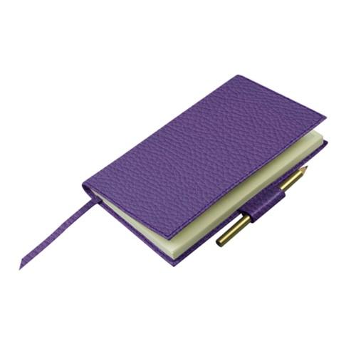 Notitieboek voor golfscore - Lavendel - Korrelig Leer