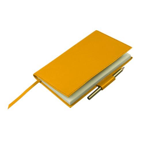 Golfscore-Notizbuch - Sonnengelb - Glattleder