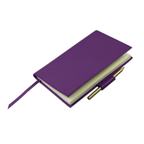 Notitieboek voor golfscore - Lavendel - Soepel Leer