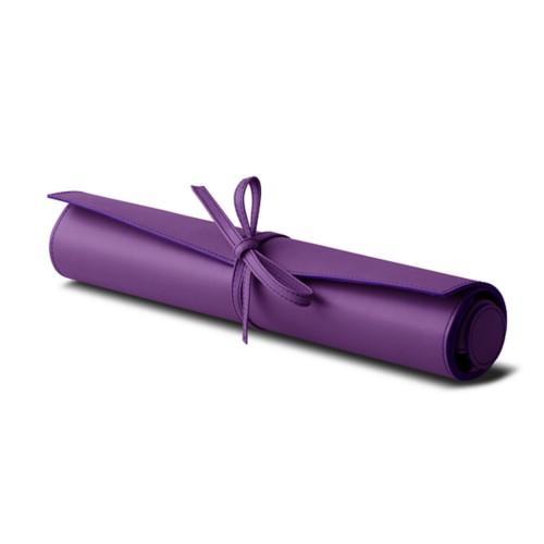 Reisversie backgammon - Lavendel - Soepel Leer