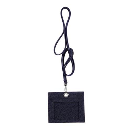 Porta badge - Viola - Pelle Ruvida
