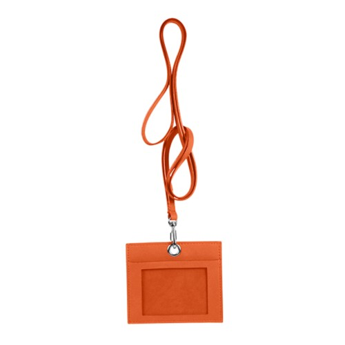 Horizontal Badge Holder with Lanyard