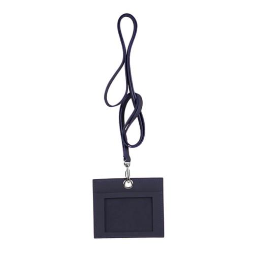 Porta badge - Viola - Pelle Liscia