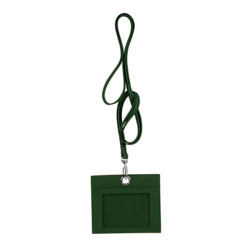 Kartenhalter - Dunkelgrün - Glattleder