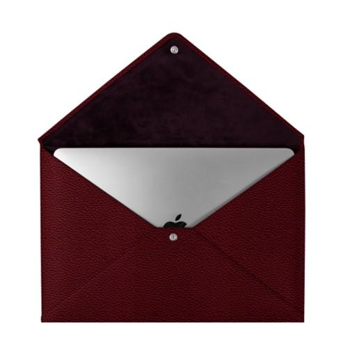Schutzhülle für das MacBook Pro 13 Zoll - Weinrot - Genarbtes Leder