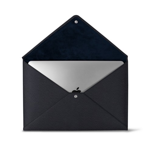MacBook Pro 13 inch Case Envelope - Navy Blue - Granulated Leather