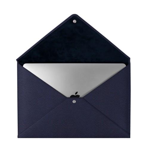 Schutzhülle für das MacBook Pro 13 Zoll - Marineblau  - Genarbtes Leder
