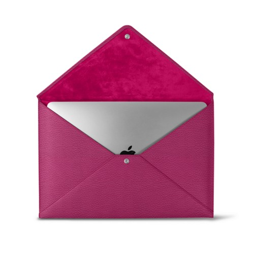 MacBook Pro 13 inch Case Envelope - Fuchsia  - Granulated Leather