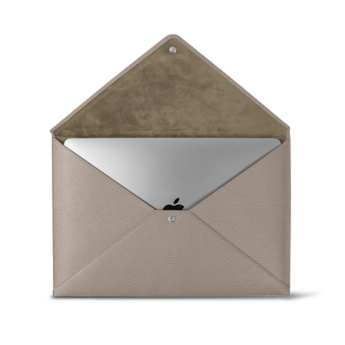 MacBook Pro 13 inch Case Envelope - Light Taupe - Granulated Leather