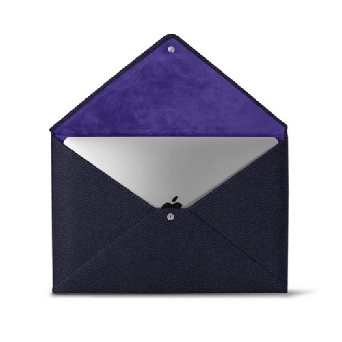 MacBook Pro 13 inch Case Envelope - Purple - Granulated Leather