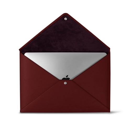 Schutzhülle für das MacBook Pro 13 Zoll - Weinrot - Glattleder
