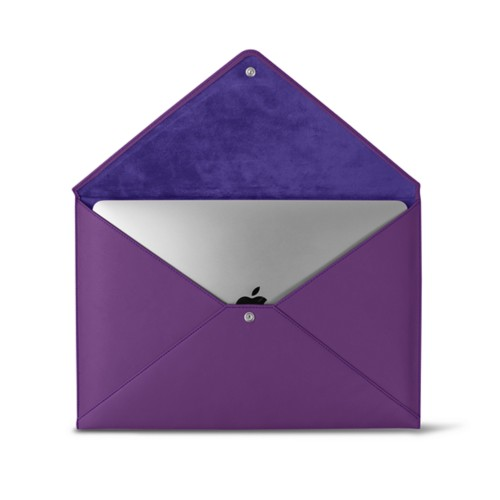 MacBook Pro 13 inch Case Envelope - Lavender - Smooth Leather