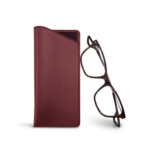 Thin glasses cases - Burgundy - Goat Leather