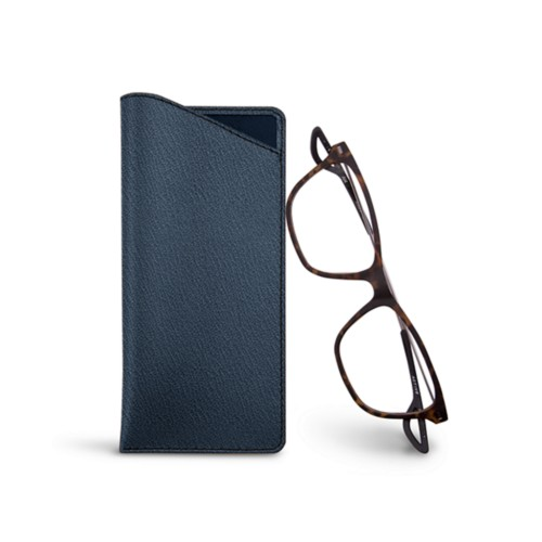Thin glasses cases - Navy Blue - Goat Leather