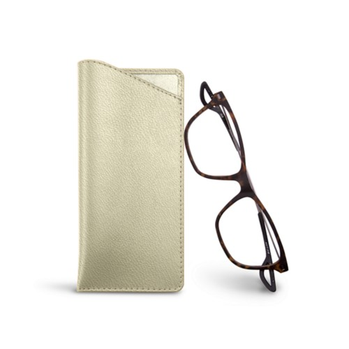 Thin glasses cases - Off-White - Goat Leather