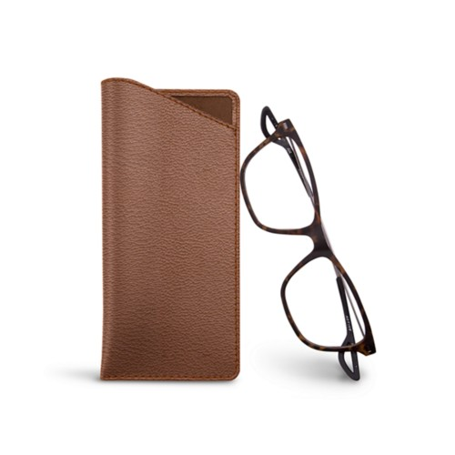 Thin glasses cases - Tan - Goat Leather