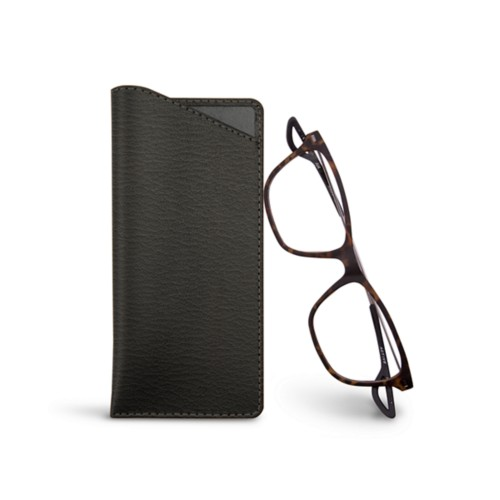 Thin glasses cases - Mouse-Grey - Goat Leather