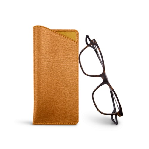 Thin Glasses Cases - Saffron - Goat Leather