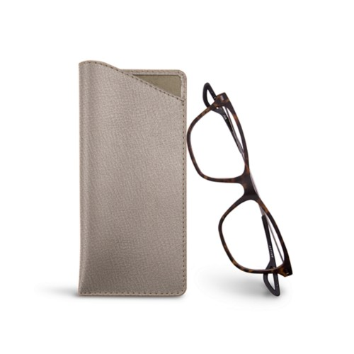 Thin glasses cases - Light Taupe - Goat Leather