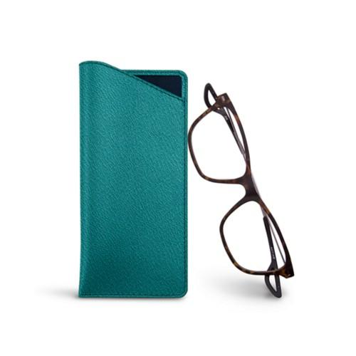 Housse pour lunettes fines - Sea Green - Goat Leather