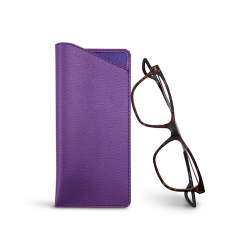 Thin glasses cases - Purple - Goat Leather