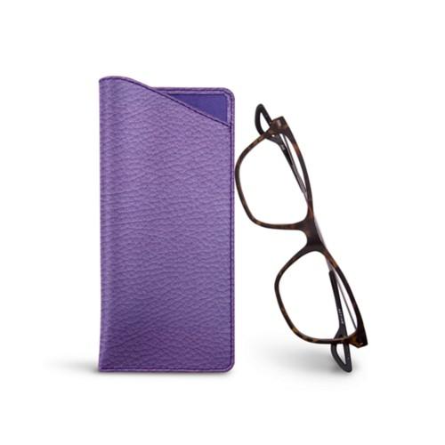 Housse pour lunettes fines - Lavender - Granulated Leather