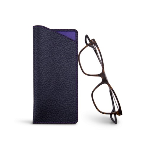 Housse pour lunettes fines - Purple - Granulated Leather