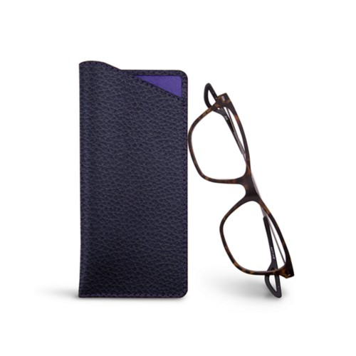 Thin glasses cases - Purple - Granulated Leather