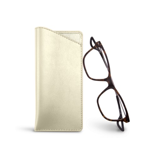 Thin glasses cases - Off-White - Smooth Leather