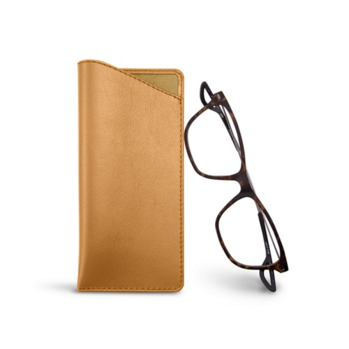 Thin glasses cases - Natural - Smooth Leather