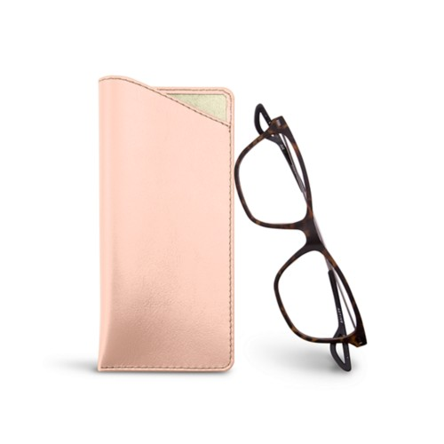 Thin glasses cases - Nude - Smooth Leather