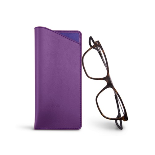 Housse pour lunettes fines - Lavender - Smooth Leather