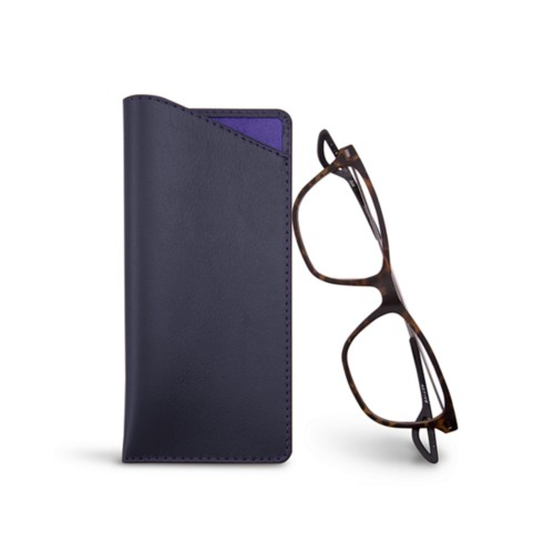 Thin glasses cases - Purple - Smooth Leather