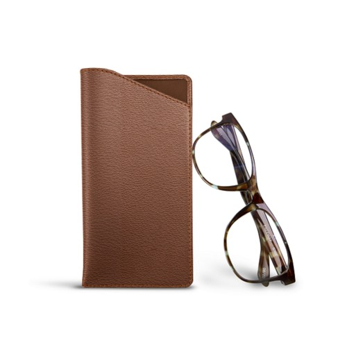 Case for standard size glasses - Tan - Goat Leather