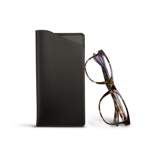 Case for standard size glasses - Mouse-Grey - Goat Leather