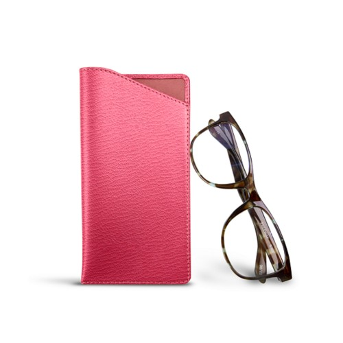 Case for standard size glasses - Pink - Goat Leather