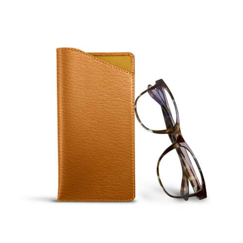 Case for Standard Size Glasses - Saffron - Goat Leather