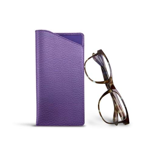 Case for standard size glasses - Lavender - Granulated Leather