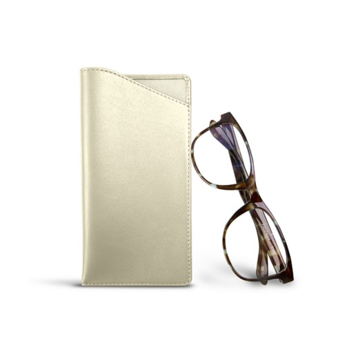 Case for standard size glasses - Off-White - Smooth Leather