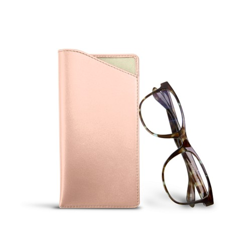Case for standard size glasses - Nude - Smooth Leather
