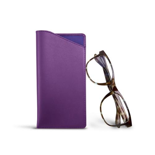 Housse pour lunettes standards - Lavande - Cuir Lisse