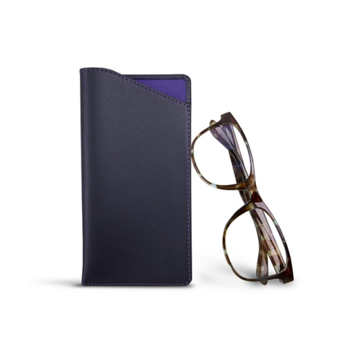 Case for standard size glasses - Purple - Smooth Leather