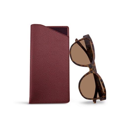Large Eyeglass Case - Burgundy - Goat Leather